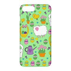 Cute Easter Pattern Apple Iphone 7 Plus Hardshell Case by Valentinaart