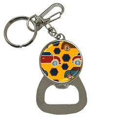 Husbands Cars Autos Pattern On A Yellow Background Button Necklaces