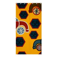 Husbands Cars Autos Pattern On A Yellow Background Shower Curtain 36  X 72  (stall)