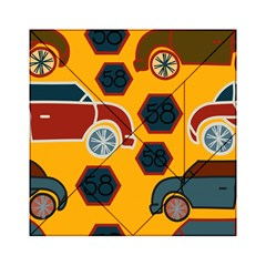Husbands Cars Autos Pattern On A Yellow Background Acrylic Tangram Puzzle (6  X 6 )