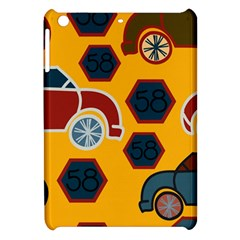 Husbands Cars Autos Pattern On A Yellow Background Apple Ipad Mini Hardshell Case by Nexatart