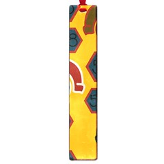 Husbands Cars Autos Pattern On A Yellow Background Large Book Marks