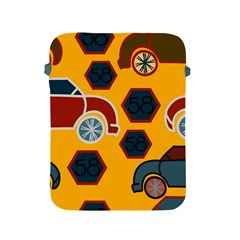 Husbands Cars Autos Pattern On A Yellow Background Apple Ipad 2/3/4 Protective Soft Cases by Nexatart