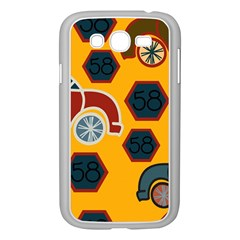 Husbands Cars Autos Pattern On A Yellow Background Samsung Galaxy Grand Duos I9082 Case (white) by Nexatart