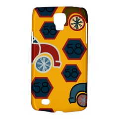 Husbands Cars Autos Pattern On A Yellow Background Galaxy S4 Active by Nexatart