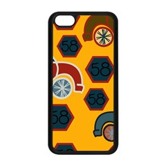 Husbands Cars Autos Pattern On A Yellow Background Apple Iphone 5c Seamless Case (black) by Nexatart