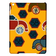 Husbands Cars Autos Pattern On A Yellow Background Ipad Air Hardshell Cases