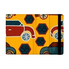 Husbands Cars Autos Pattern On A Yellow Background Ipad Mini 2 Flip Cases by Nexatart