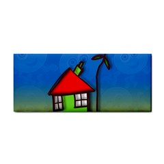 Colorful Illustration Of A Doodle House Cosmetic Storage Cases