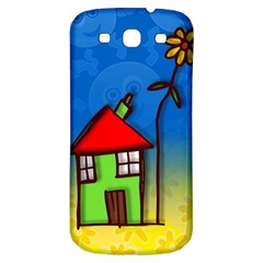 Colorful Illustration Of A Doodle House Samsung Galaxy S3 S Iii Classic Hardshell Back Case