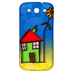 Colorful Illustration Of A Doodle House Samsung Galaxy S3 S III Classic Hardshell Back Case Front