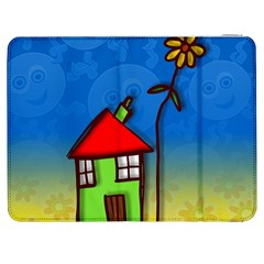Colorful Illustration Of A Doodle House Samsung Galaxy Tab 7  P1000 Flip Case