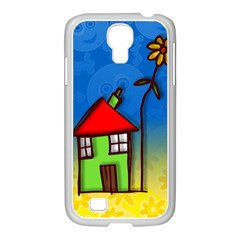 Colorful Illustration Of A Doodle House Samsung Galaxy S4 I9500/ I9505 Case (white) by Nexatart