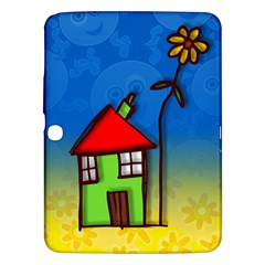Colorful Illustration Of A Doodle House Samsung Galaxy Tab 3 (10 1 ) P5200 Hardshell Case