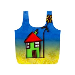 Colorful Illustration Of A Doodle House Full Print Recycle Bags (s)  by Nexatart