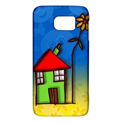 Colorful Illustration Of A Doodle House Galaxy S6 by Nexatart