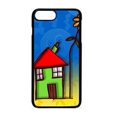 Colorful Illustration Of A Doodle House Apple iPhone 7 Plus Seamless Case (Black)