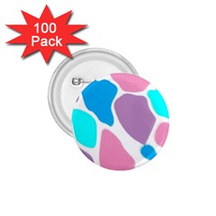 Baby Pink Girl Party Pattern Colorful Background Art Digital 1 75  Buttons (100 Pack)