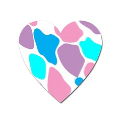 Baby Pink Girl Party Pattern Colorful Background Art Digital Heart Magnet by Nexatart