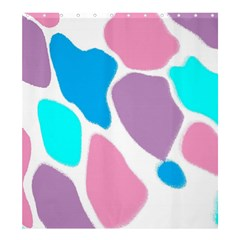 Baby Pink Girl Party Pattern Colorful Background Art Digital Shower Curtain 66  X 72  (large)