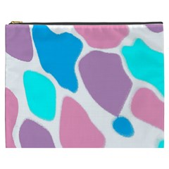 Baby Pink Girl Party Pattern Colorful Background Art Digital Cosmetic Bag (xxxl)