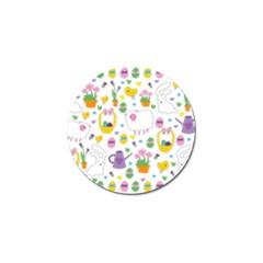 Cute Easter Pattern Golf Ball Marker by Valentinaart