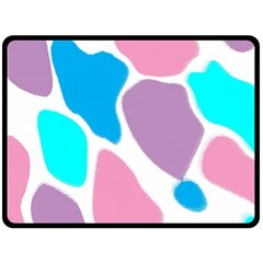 Baby Pink Girl Party Pattern Colorful Background Art Digital Double Sided Fleece Blanket (large)  by Nexatart
