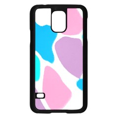 Baby Pink Girl Party Pattern Colorful Background Art Digital Samsung Galaxy S5 Case (black) by Nexatart