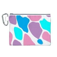 Baby Pink Girl Party Pattern Colorful Background Art Digital Canvas Cosmetic Bag (l) by Nexatart