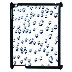 Water Drops On White Background Apple Ipad 2 Case (black)