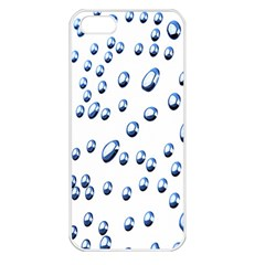 Water Drops On White Background Apple Iphone 5 Seamless Case (white)