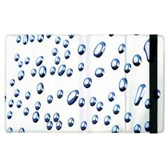 Water Drops On White Background Apple Ipad 2 Flip Case by Nexatart