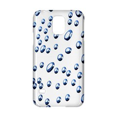 Water Drops On White Background Samsung Galaxy S5 Hardshell Case  by Nexatart