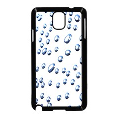 Water Drops On White Background Samsung Galaxy Note 3 Neo Hardshell Case (black)
