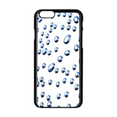 Water Drops On White Background Apple Iphone 6/6s Black Enamel Case