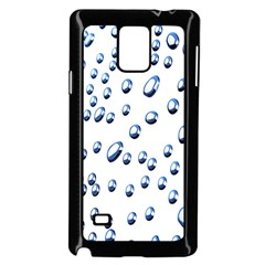 Water Drops On White Background Samsung Galaxy Note 4 Case (black)