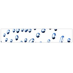 Water Drops On White Background Flano Scarf (large) by Nexatart