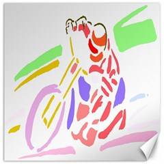 Motorcycle Racing The Slip Motorcycle Canvas 12  X 12   by Nexatart