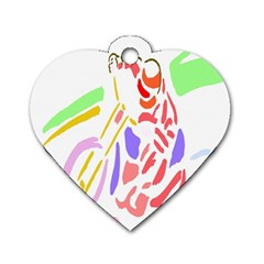 Motorcycle Racing The Slip Motorcycle Dog Tag Heart (one Side)