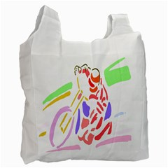 Motorcycle Racing The Slip Motorcycle Recycle Bag (two Side)  by Nexatart