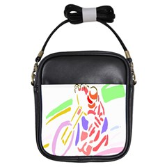 Motorcycle Racing The Slip Motorcycle Girls Sling Bags by Nexatart