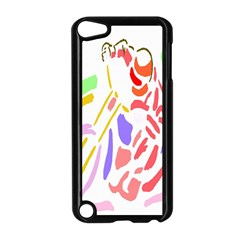 Motorcycle Racing The Slip Motorcycle Apple Ipod Touch 5 Case (black) by Nexatart
