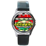 Coffee Tin A Classic Illustration Round Metal Watch