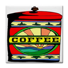 Coffee Tin A Classic Illustration Tile Coasters by Nexatart