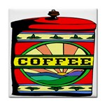 Coffee Tin A Classic Illustration Tile Coasters