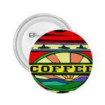 Coffee Tin A Classic Illustration 2.25  Buttons