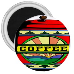 Coffee Tin A Classic Illustration 3  Magnets by Nexatart