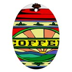 Coffee Tin A Classic Illustration Ornament (Oval)