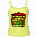 Coffee Tin A Classic Illustration Yellow Spaghetti Tank