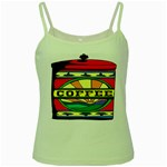 Coffee Tin A Classic Illustration Green Spaghetti Tank